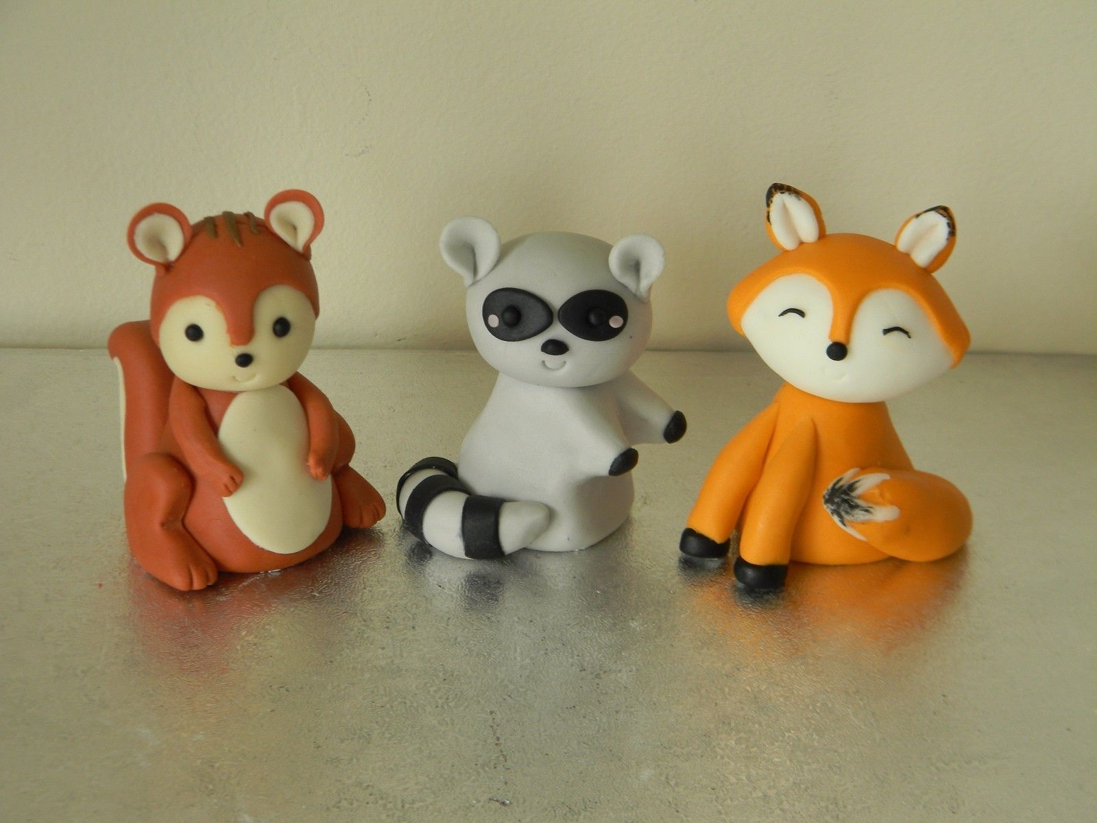 Fox Raccoon Amp Squirrel Cake Toppers