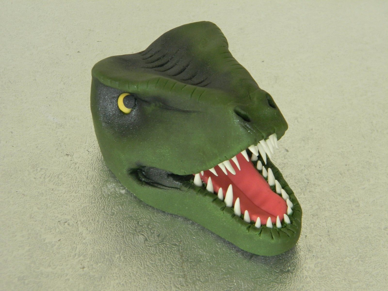 T-Rex Dinosaur Cake Topper with Leaves